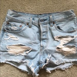 Levi's light wash denim shorts